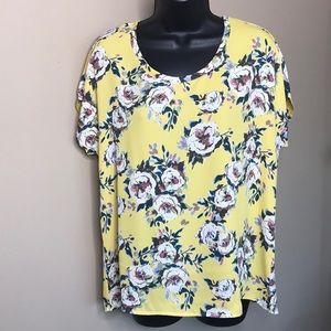 Anthropologie Everleigh Floral Blouse Size XS
